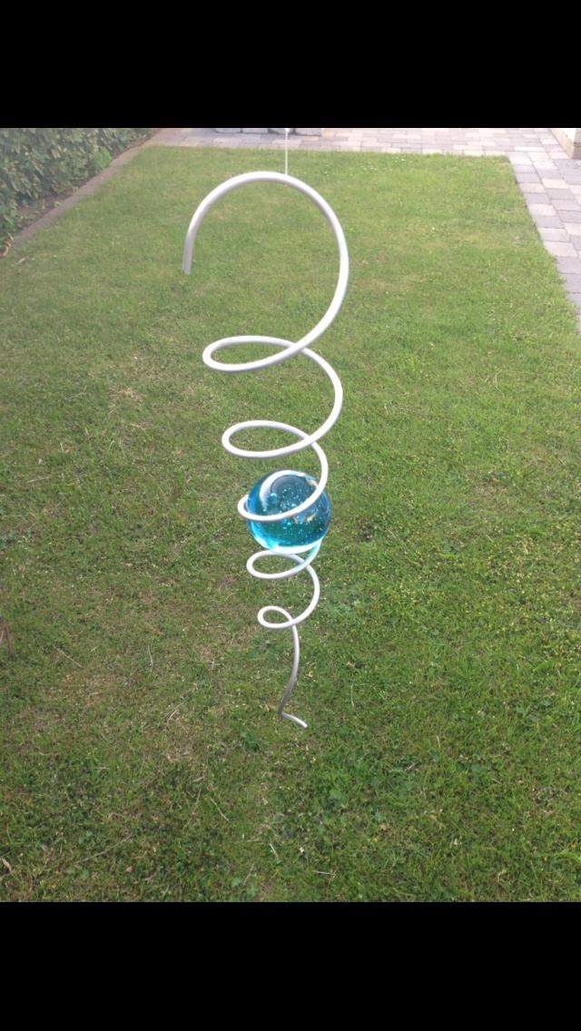 Spiral 32cm med turkos kula 50mm