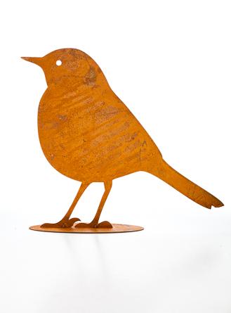 Rostig fågel stor 25 cm