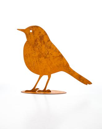 Rostig fågel liten 20 cm