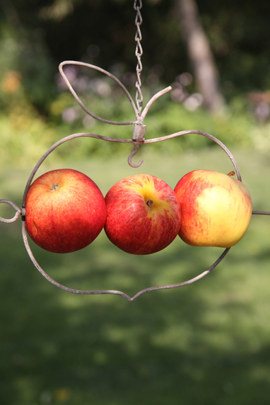 FÅGELMATARE äpple grå