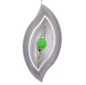 Vindspel Blad 23 cm grön kula