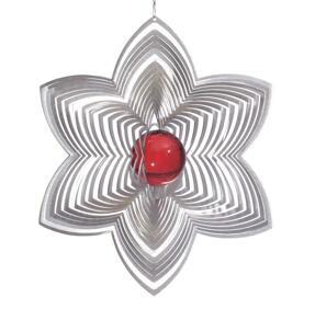 Vindspel Blomma 21 cm röd kula