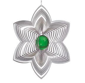 Vindspel Blomma 21 cm grön kula