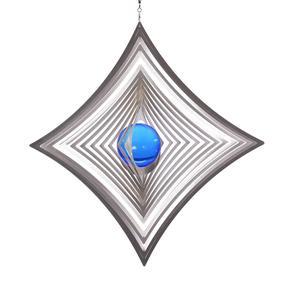 Vindspel Ruter 18 cm blå kula