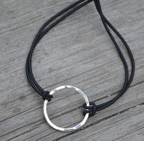 Armband soft cirkel silver