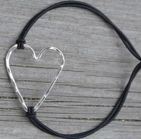 Armband soft hjärta silver