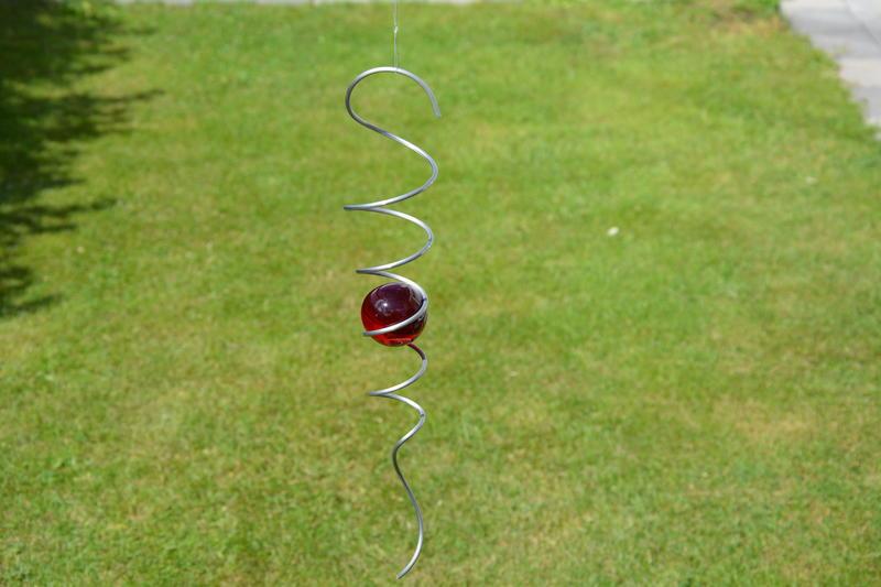 Spiral 32cm med röd kula 50mm