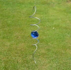 Spiral 32cm med blå kula 50mm