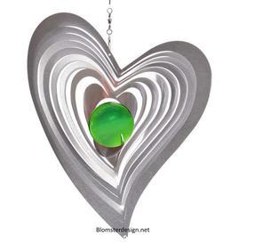 Vindspel Swing 18 cm grön kula