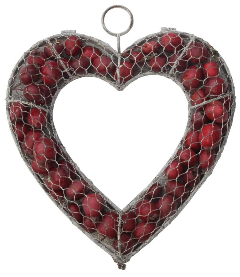 DÖRRKRANS hjärta öppningsbar 30cm metall
