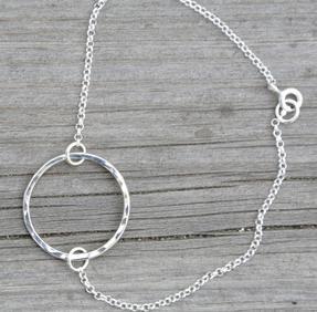 Armband cirkel silver