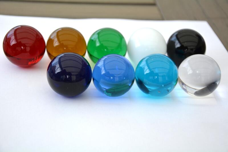Glaskula 3,5 cm grön