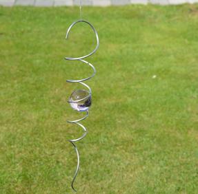 Spiral 32cm med rosa kula 50mm