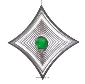 Vindspel Ruter 18 cm grön kula