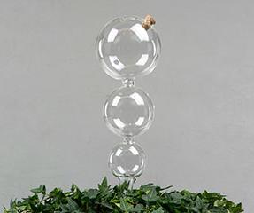 Bevattningsglas med kork trippel  10*8*6*42 cm