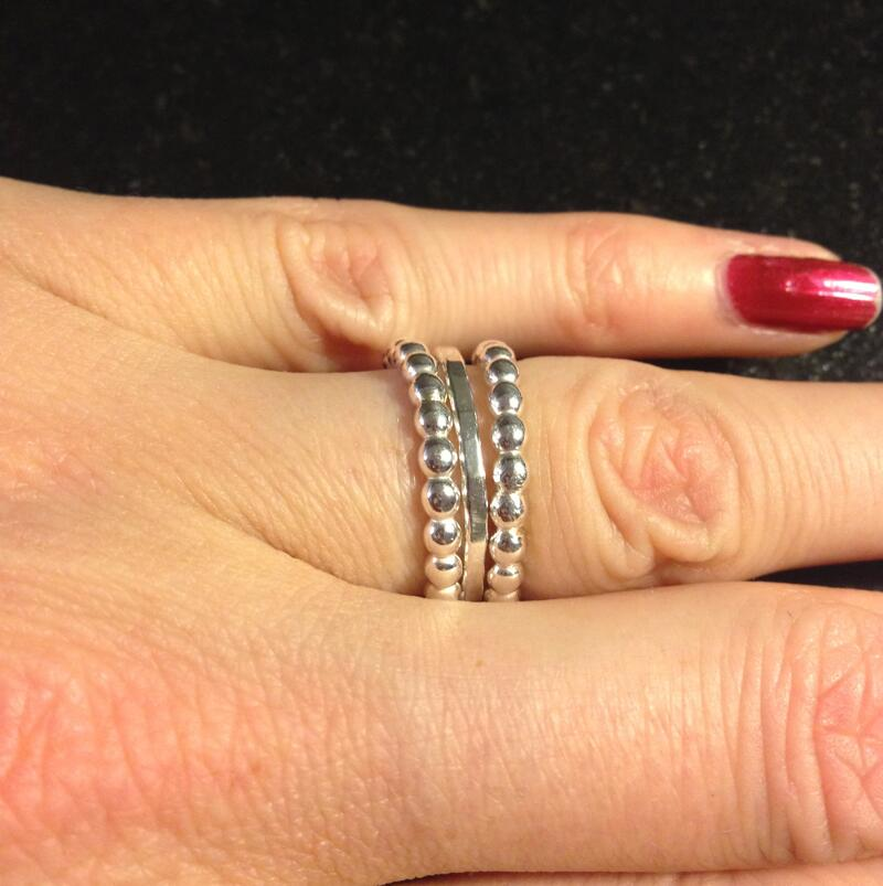 3 st ringar silver